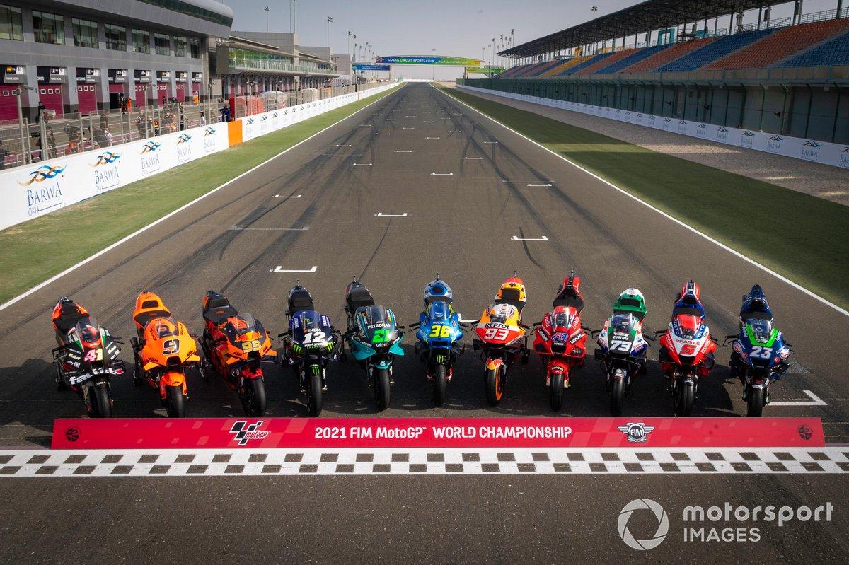 Alineación de motos de MotoGP 2021