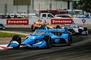 Alex Palou, Chip Ganassi Racing Honda, Romain Grosjean, Dale Coyne Racing with RWR Honda