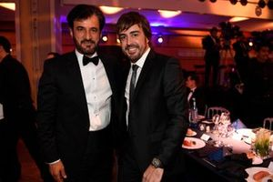 Fernando Alonso and Mohammed ben Sulayem