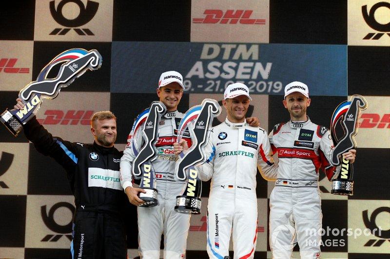 Podio: Ganador Marco Wittmann, BMW Team RMG, segundo clasificado Nico Müller, Audi Sport Team Abt Sportsline, tercer clasificado René Rast, Audi Sport Team Rosberg