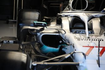 Mercedes AMG F1 W10 front technical detail