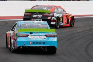 Kyle Busch, Joe Gibbs Racing, Toyota Camry M&M's Hazelnut Martin Truex Jr., Joe Gibbs Racing, Toyota Camry Bass Pro Shops