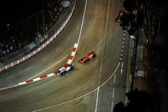 Lewis Hamilton, Mercedes AMG F1 W10, Sebastian Vettel, Ferrari SF90, en Max Verstappen, Red Bull Racing RB15