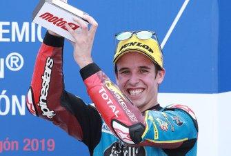 Podio: il terzo classificato Alex Marquez, Marc VDS Racing