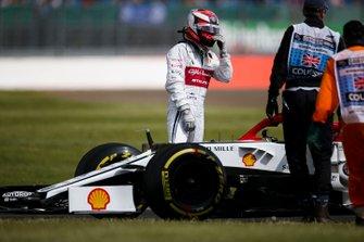 Kimi Raikkonen, Alfa Romeo Racing C38 fermo sulla pista