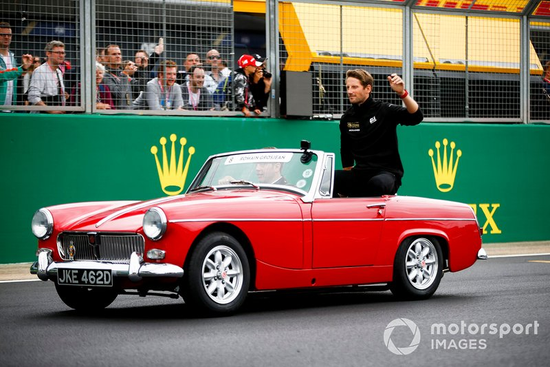 Romain Grosjean, Haas F1, alla parata dei piloti