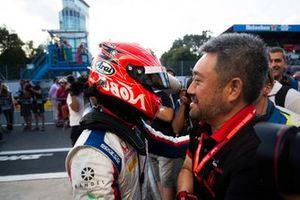 Nobuharu Matsushita, Carlin avec Masashi Yamamoto, directeur général de Honda Motorsport