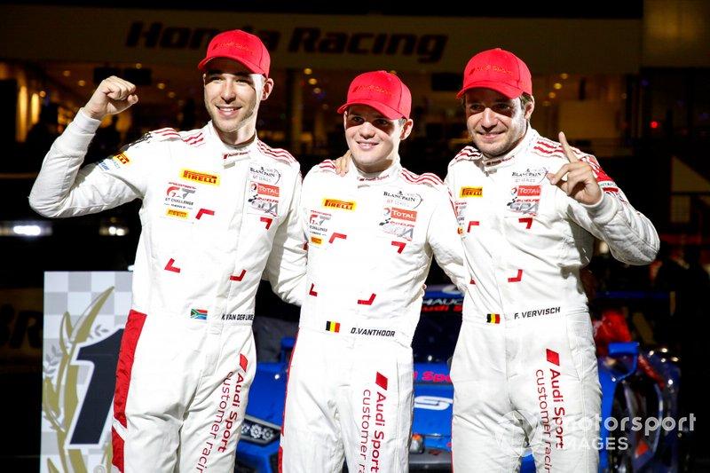 Winner #25 Audi Sport Team WRT Audi R8 LMS GT3 Evo: Dries Vanthoor, Kelvin van der Linde, Frédéric Vervisch