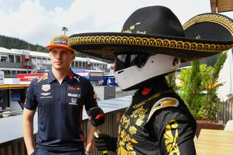 Max Verstappen, Red Bull Racing, talks to Mario Achi