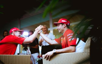 Sebastian Vettel and Charles Leclerc, Ferrari