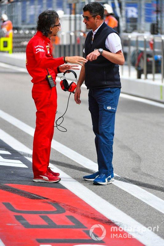 Laurent Mekies, Sporting Director, Ferrari, with Michael Masi, Race Director, FIA