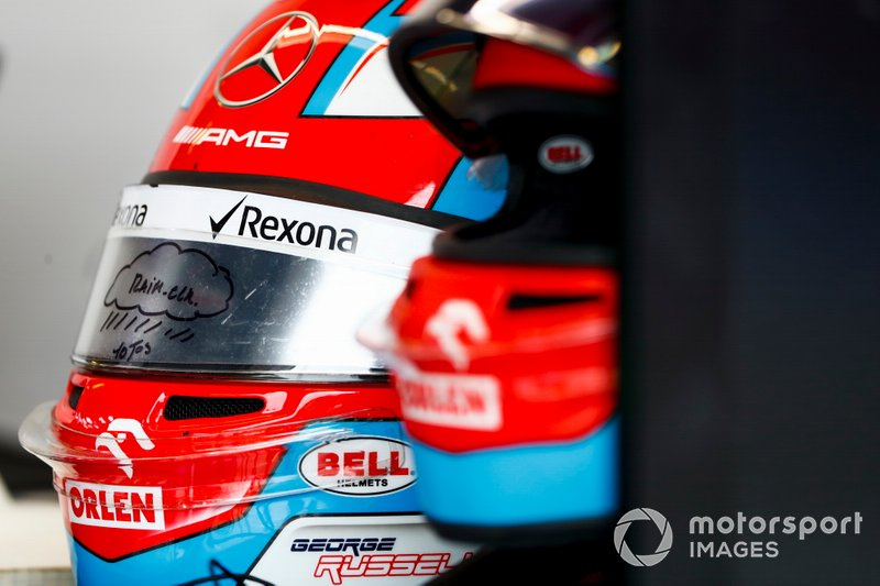 The helmet of George Russell, Williams Racing