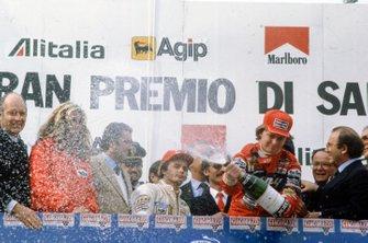 Didier Pironi, Ferrari e Gilles Villeneuve, Ferrari, al GP di San Marino del 1982