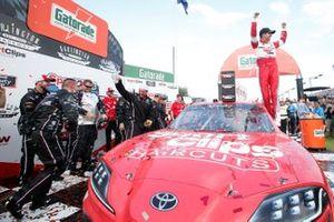 Race Winner Denny Hamlin, Joe Gibbs Racing, Toyota Supra