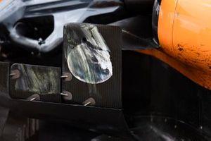 Race wear on a McLaren MCL34