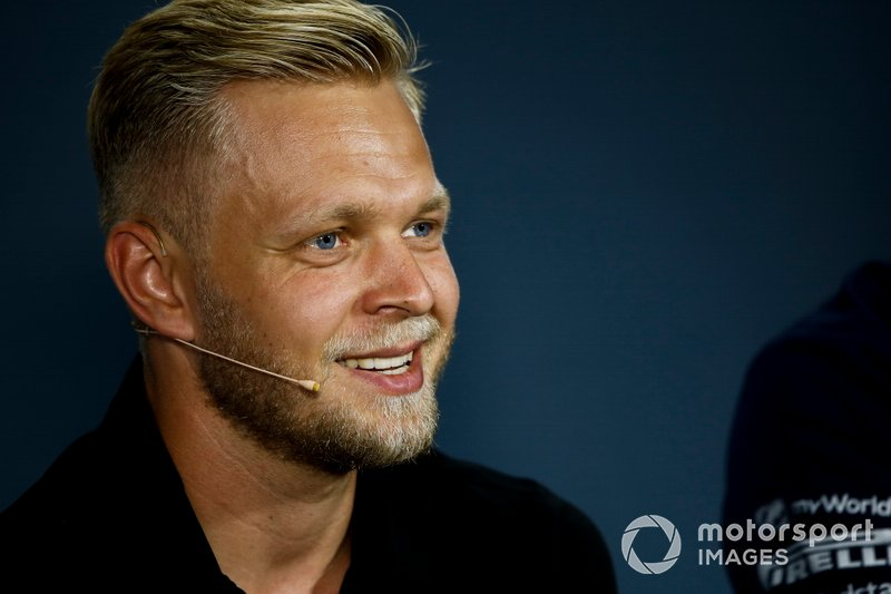 Kevin Magnussen, Haas F1, en conférence de presse
