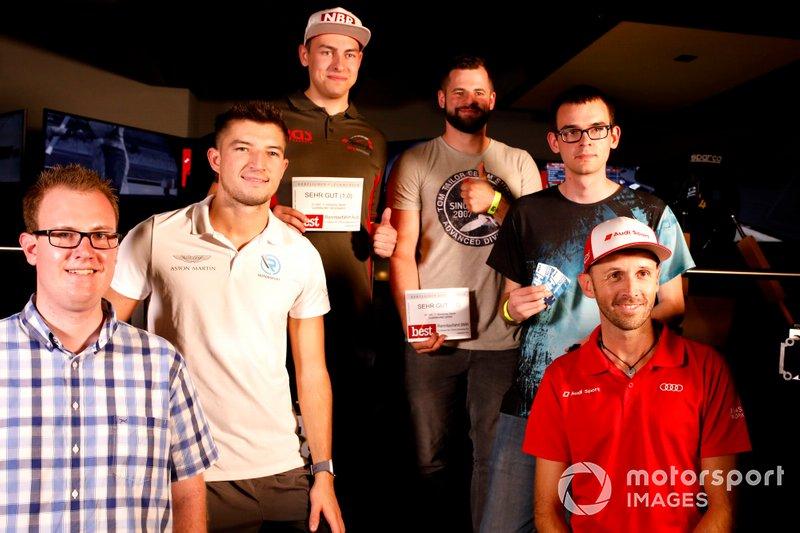 Todos los ganadores con René Rast, Audi Sport Team Rosberg y Jake Dennis, R-Motorsport