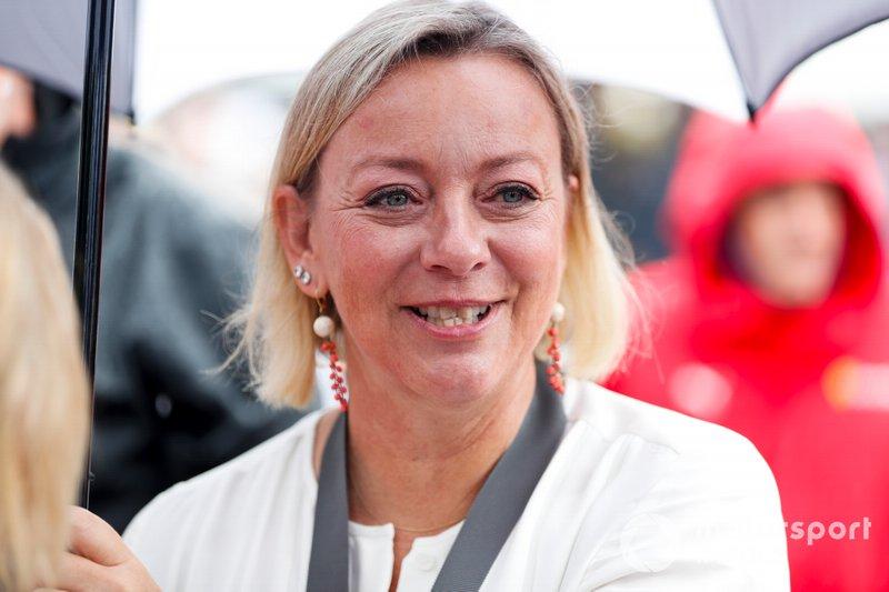 Sabine Khem before the Michael Schumacher Celebration
