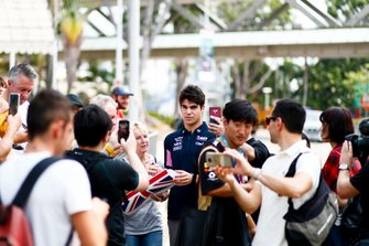 Lance Stroll, Racing Point with fans
