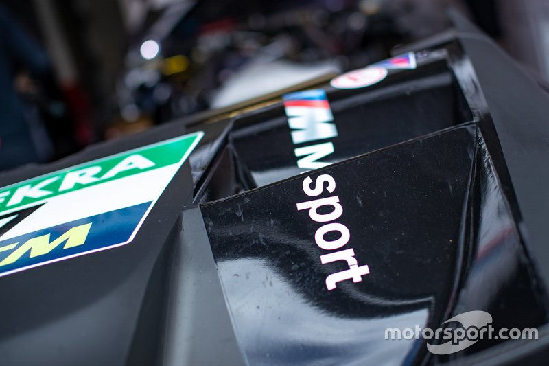 Detail van de wagen van Bruno Spengler, BMW Team RMG, BMW M4 DTM