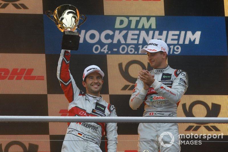 Podio: segundo Mike Rockenfeller, Audi Sport Team Phoenix