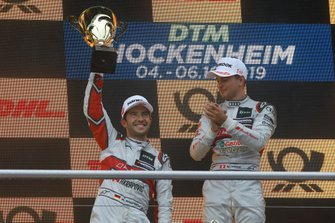 Podio: il secondo classificato Mike Rockenfeller, Audi Sport Team Phoenix