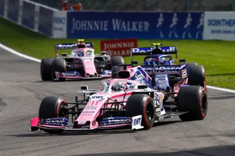 Sergio Perez, Racing Point RP19, precede Pierre Gasly, Toro Rosso STR14, e Lance Stroll, Racing Point RP19