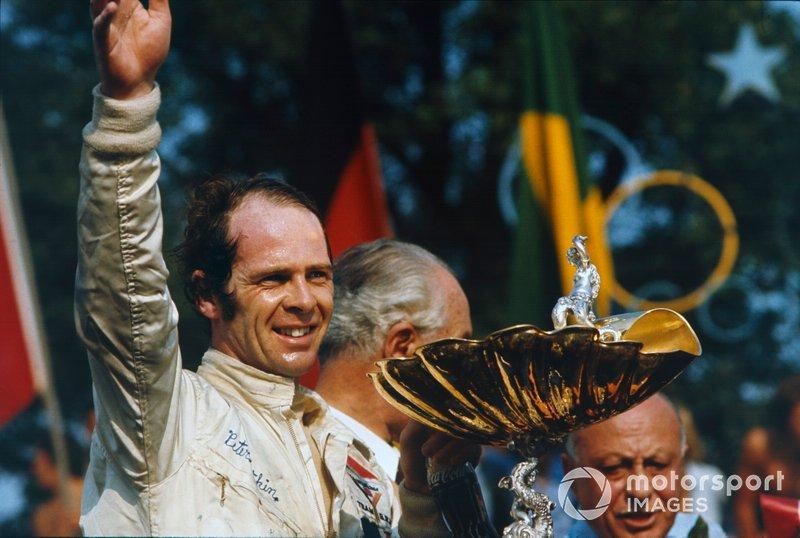 Ganador de la carrera Peter Gethin, BRM P160