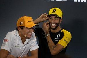 Lando Norris, McLaren and Daniel Ricciardo, Renault F1 Team in the Press Conference