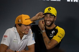 Lando Norris, McLaren and Daniel Ricciardo, Renault F1 Team in the Press Conference