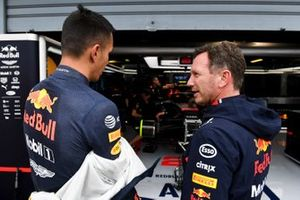 Alexander Albon, Red Bull Racing, with Christian Horner, Team Principal, Red Bull Racing