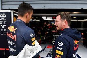 Alexander Albon, Red Bull Racing, with Christian Horner, Team Principal, Red Bull Racing