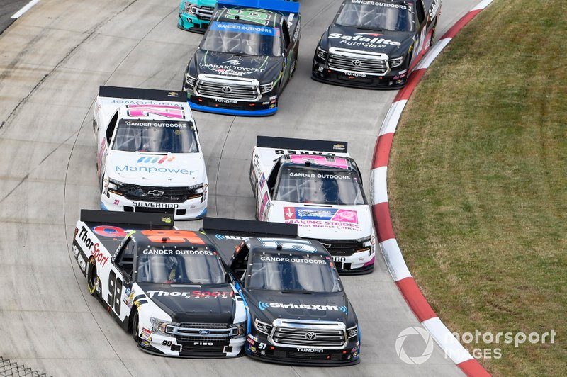 Christian Eckes, Kyle Busch Motorsports, Toyota Tundra SiriusXM, Grant Enfinger, ThorSport Racing, Ford F-150 Curb Records