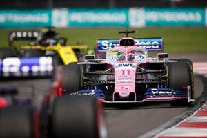 Sergio Perez, Racing Point RP19, leads Daniel Ricciardo, Renault F1 Team R.S.19