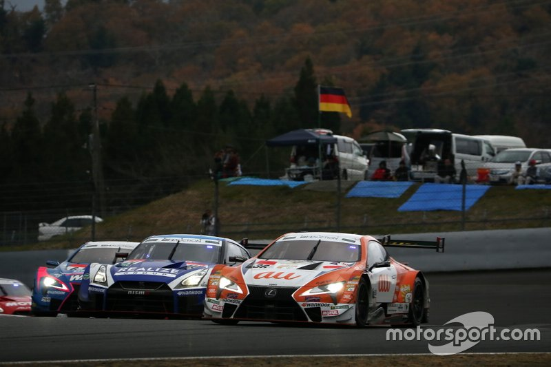 Kazuki Nakajima, Lexus Team TOM'S Lexus LC500, Mitsunori Takaboshi, Kondo Racing Nissan GT-R NISMO GT500