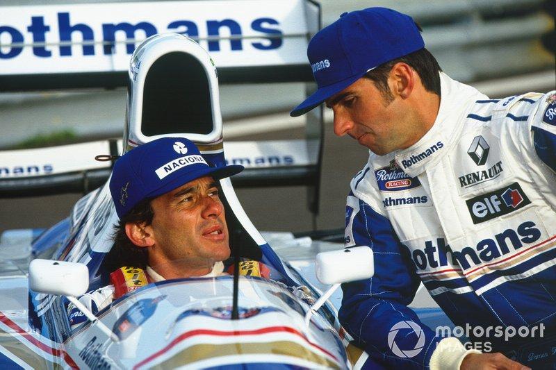 Damon Hill and Ayrton Senna, Williams FW16-Renault