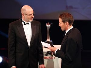 Presentation of the Autosport Williams Engineer of the Future award won by Luke Dardis