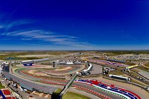 Una vista aérea del Circuito de las Américas
