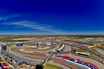 An aerial view of the Circuit of the Americas