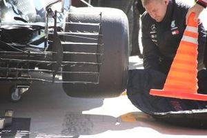 Mercedes AMG F1 W10, dettaglio della griglia di sensori