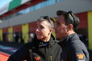 Simone Riccitelli, Ebimotors, con il padre Luca