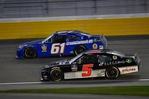 Timmy Hill, Hattori Racing Enterprises, Toyota Camry, Matt Mills, B.J. McLeod Motorsports, Chevrolet Camaro J.F. Electric