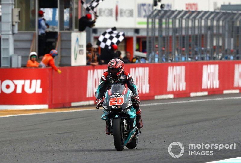 Il secondo classificato Fabio Quartararo, Petronas Yamaha SRT