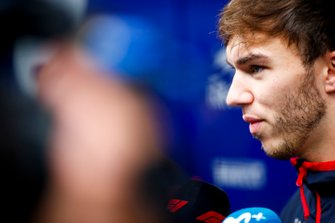 Pierre Gasly, Toro Rosso speaks to the media
