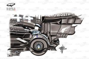 تفاصيل المكابح الخلفية لسيارة مرسيدس دبليو10