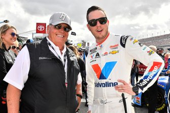 Alex Bowman, Hendrick Motorsports, Chevrolet Camaro Valvoline and Rick Hendrick