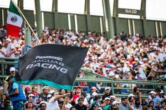 Jaguar fans in the grandstand