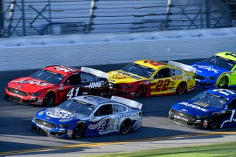 Kevin Harvick, Stewart-Haas Racing, Ford Mustang Busch Light Cole Custer, Stewart-Haas Racing, Ford Mustang Haas Automation, Joey Logano, Team Penske, Ford Mustang Shell Pennzoil