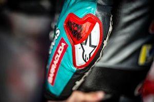 Fabio Quartararo, Petronas Yamaha SRT, elbow slider