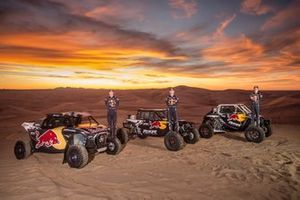 Red Bull Off-Road Junior Team member Blade Hildebrand, Mitch Guthrie, and Seth Quintero